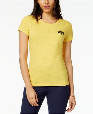 Maison Jules Embellished Dragonfly T-Shirt, Created for Macy's