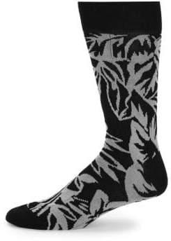 Bugatchi Two-Tone Mid-Calf Socks
