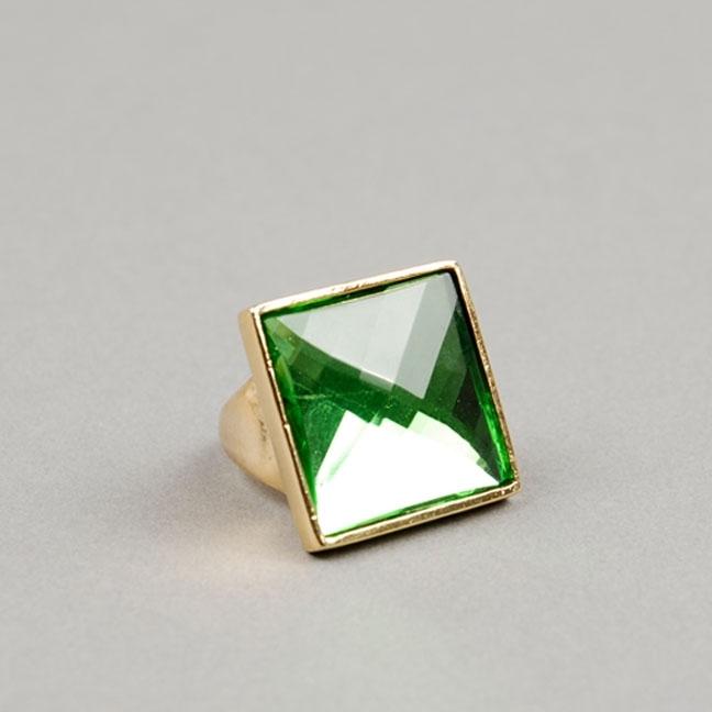 Rachel Leigh Green Crystal Oversized Ring
