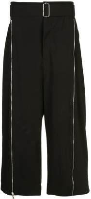 The Viridi-anne wide-leg cropped trousers
