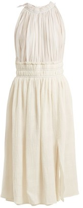 Altuzarra Vivienne Gathered Midi Dress - Womens - Ivory