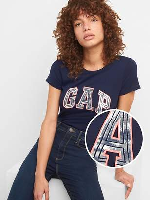 Gap Metallic Logo Short Sleeve Crewneck T-Shirt