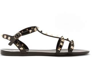 Valentino Rockstud Caged Pvc Sandals - Womens - Black