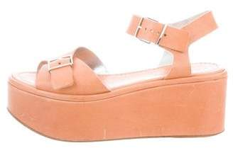 Robert Clergerie Platform Leather Wedges