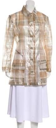 Issey Miyake Plaid Short Coat