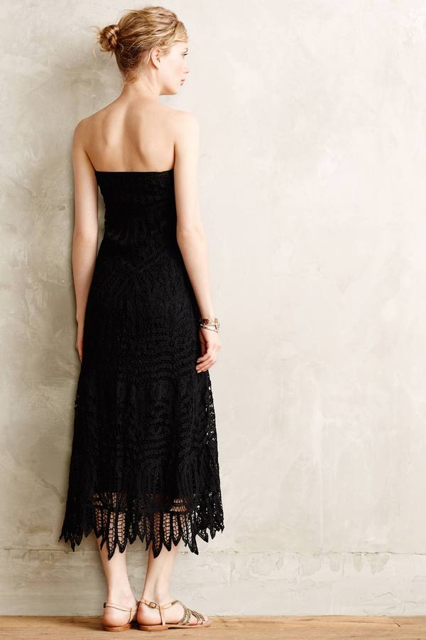 Cynthia Vincent Convertible Lace Dress