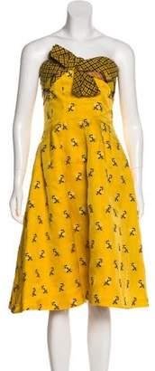 Oscar de la Renta Sleeveless Knit Dress