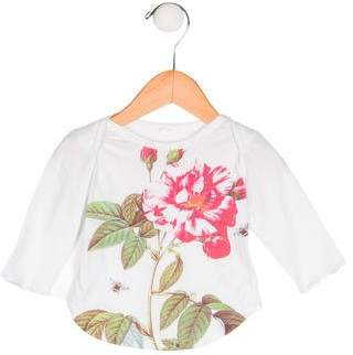 Stella McCartney Girls' Floral Print Long Sleeve Top