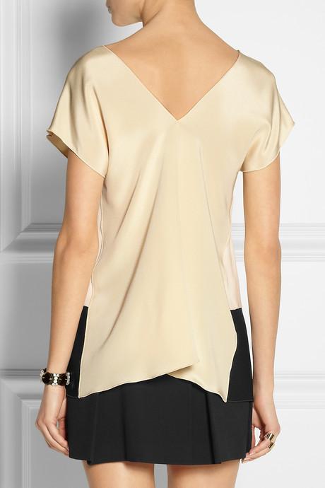 Derek Lam Color-block silk crepe de chine top