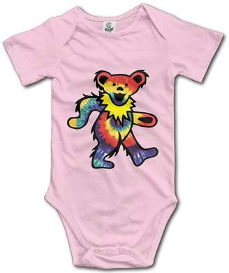 Jack Wang Inc Rock The Grateful Dead Dancing Bear Baby Onesie Infant T Shirt