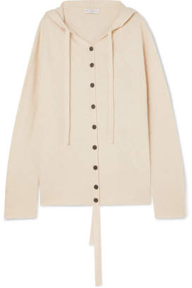 J.W.Anderson Oversized Hooded Wool And Cashmere-blend Cardigan - Beige