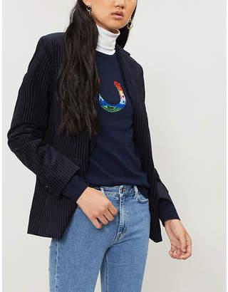 Bella Freud Horseshoe-intarsia cashmere jumper