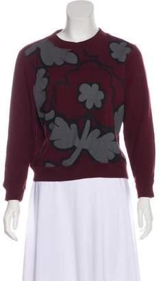 Burberry Printed Cropped Sweatshirt
