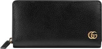 Gucci GG Marmont leather zip around wallet