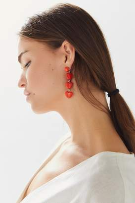 Urban Outfitters Candy Heart Drop Earring