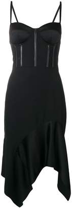 Pinko asymmetric bustier midi dress
