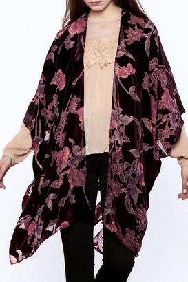 storia Velvet Burnout Cardigan $98 thestylecure.com