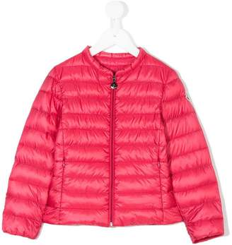 Moncler collarless padded jacket