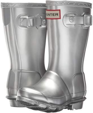 Hunter Original Metallic Rain Boot Kids Shoes