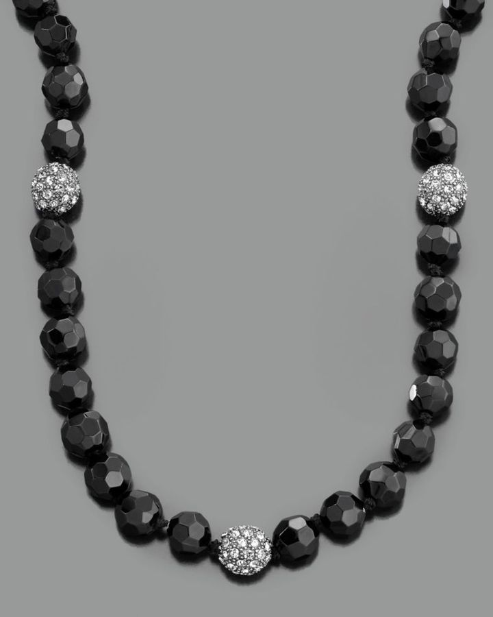 Lauren by Ralph Lauren Necklace, Jet Pave Beaded