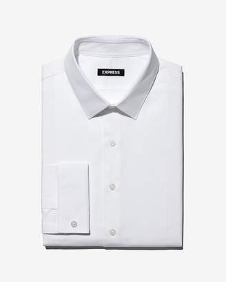 Express Extra Slim Fit Twill Tuxedo Dress Shirt