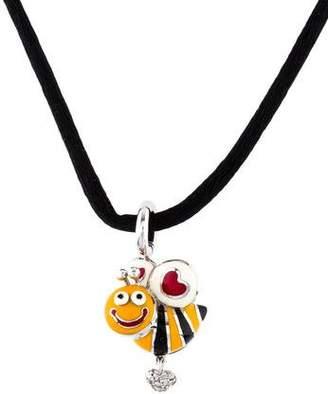 Bumble Bee Aaron Basha 18K Diamond & Enamel Pendant Necklace