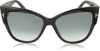Tom Ford ANOUSHKA FT0371 01B Black Cat Eye Sunglasses