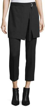 DKNY Skirted Cropped Pants, Black $398 thestylecure.com