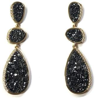 Marcia Moran Bel-Air Druzy-Drop Earrings