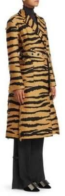 Proenza Schouler Tiger Print Wrap Coat