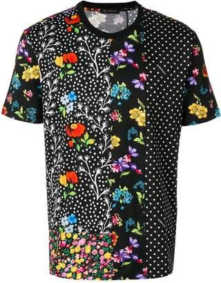 Versace Mixed floral print T-shirt