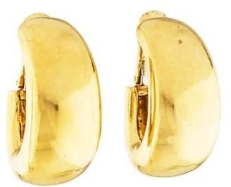 David Webb 18K Hoop Clip-On Earrings yellow 18K Hoop Clip-On Earrings