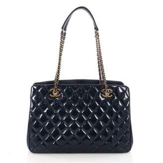 Chanel Navy Patent leather Handbag
