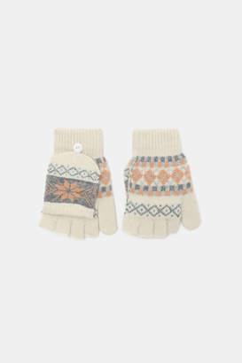 Ardene Wool Fair Isle Fingerless Gloves