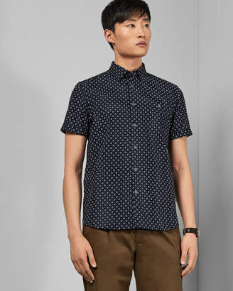 Ted Baker POLARBE Small dot cotton shirt