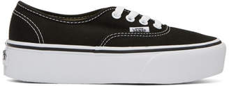 Vans Black OG Authentic Platform Sneakers