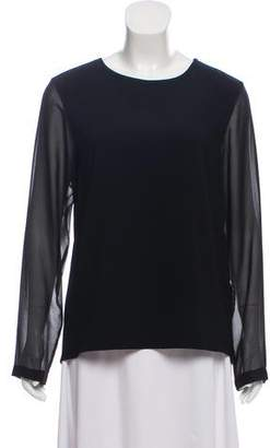Rag & Bone Long Sleeve Scoop Neck Blouse