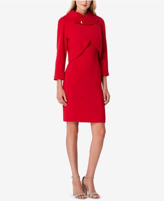 Tahari ASL Petite Envelope-Collar Dress Suit