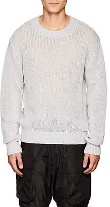 Taverniti So Ben Unravel Project Men's Loose-Knit Stockinette-Stitched Sweater