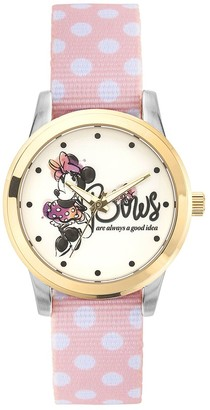 """Disney Disney's Minnie Mouse """"Bows are Always a Good Idea"""" Women's Reversible Strap Watch"""