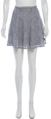 MICHAEL Michael Kors Silk Printed Mini Skirt w/ Tags