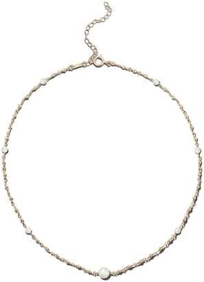 Mizuki Wrapped Akoya Pearl and Bead Chain Necklace - Yellow Gold