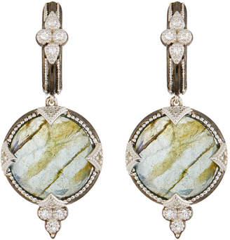 Jude Frances Round Doublet Drop Earrings, Labradorite/Rose Quartz