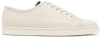 John Lobb Levah Low Top Leather Trainers - Mens - White Multi