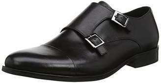 Dune Men's Pires Loafers, Black-Leather, 11 (45 EU)