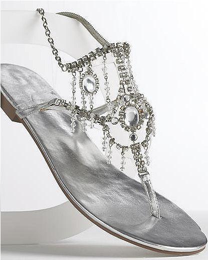 Rhinestone-trim sandals