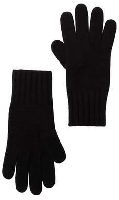 Portolano Cashmere Wide Ribbed Cuff Gloves