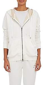 ATM Anthony Thomas Melillo Women's Distressed Cotton Terry Hoodie - White