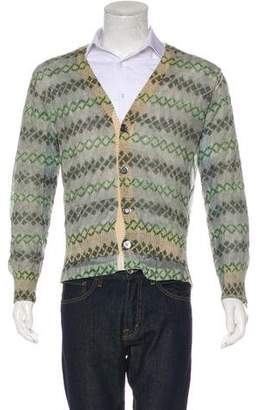 Dries Van Noten Diamond Pattern Cardigan