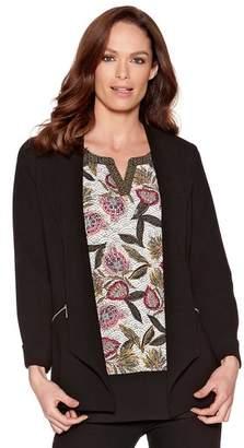 M&Co Crepe zip pocket jacket